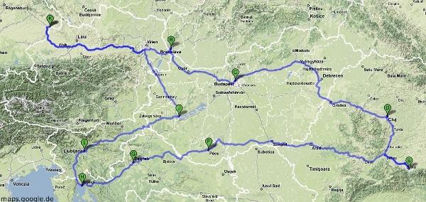 Interrail Route