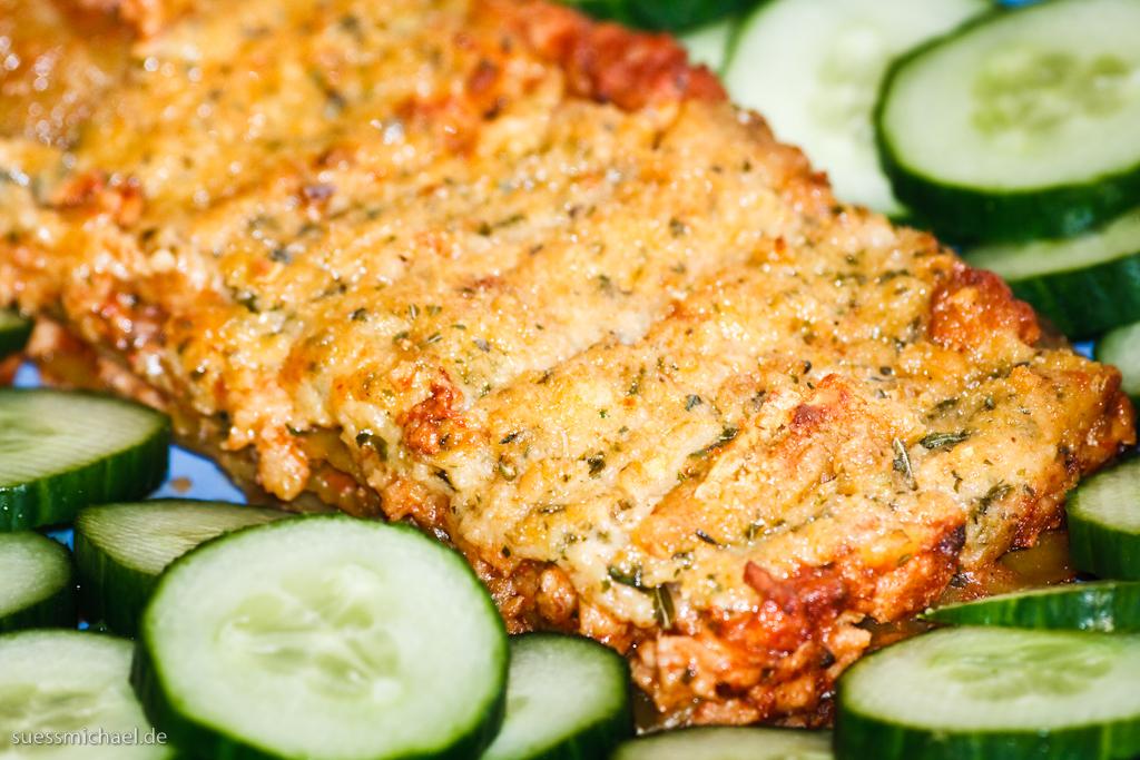 2010-04-20 Vegan Lasagne & Cucumbers