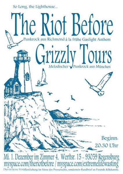 The Riot Before + Grizzly Tours Flyer
