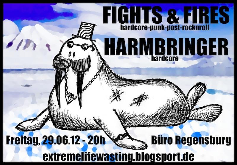 2012-06-29 Fights&Fires + Harmbringer Flyer