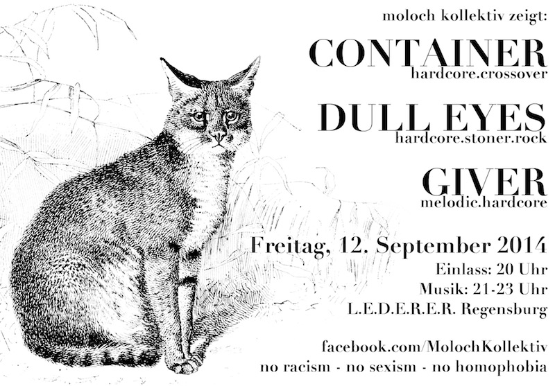 2014-09-12 Dull Eyes + Container + Giver flyer