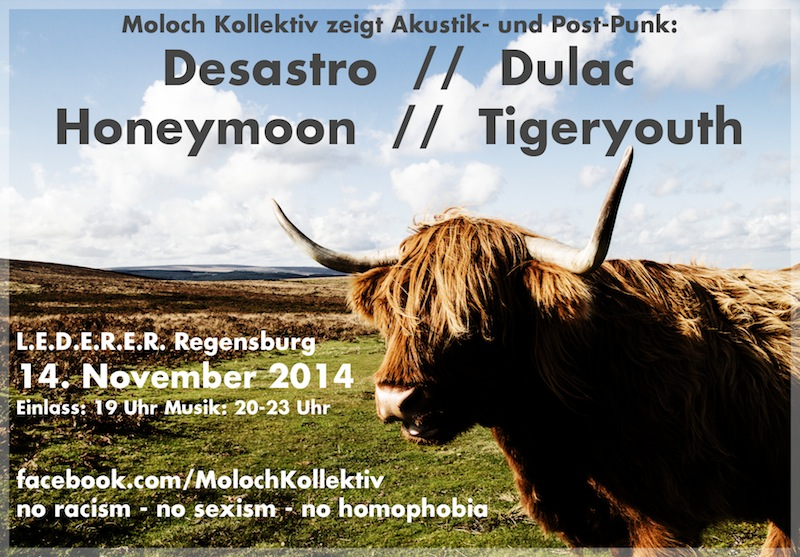 2014-11-14 Dulac + Desastro + Honeymoon + Tigeryouth