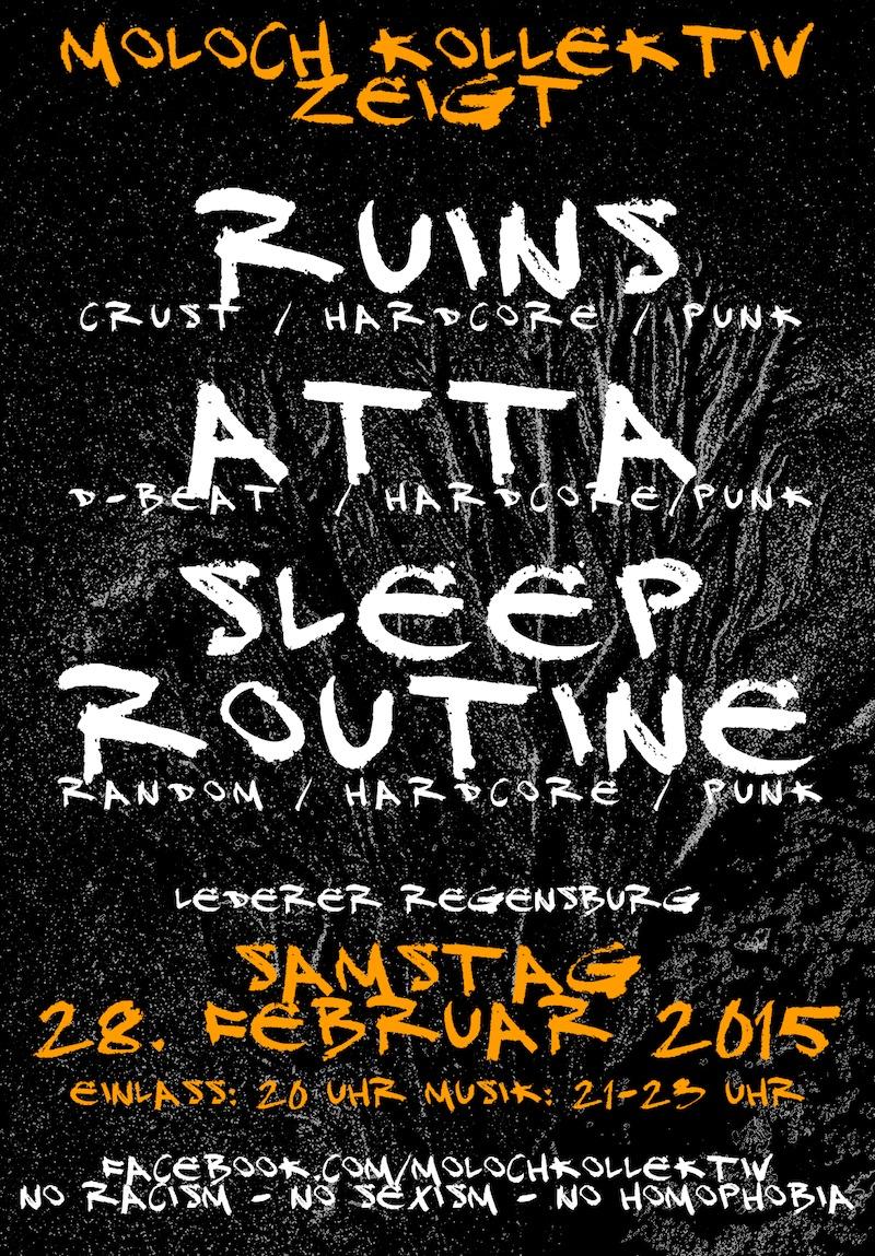 2015-02-28 Ruins + Atta + Sleep Routine + Moloch Kollektiv