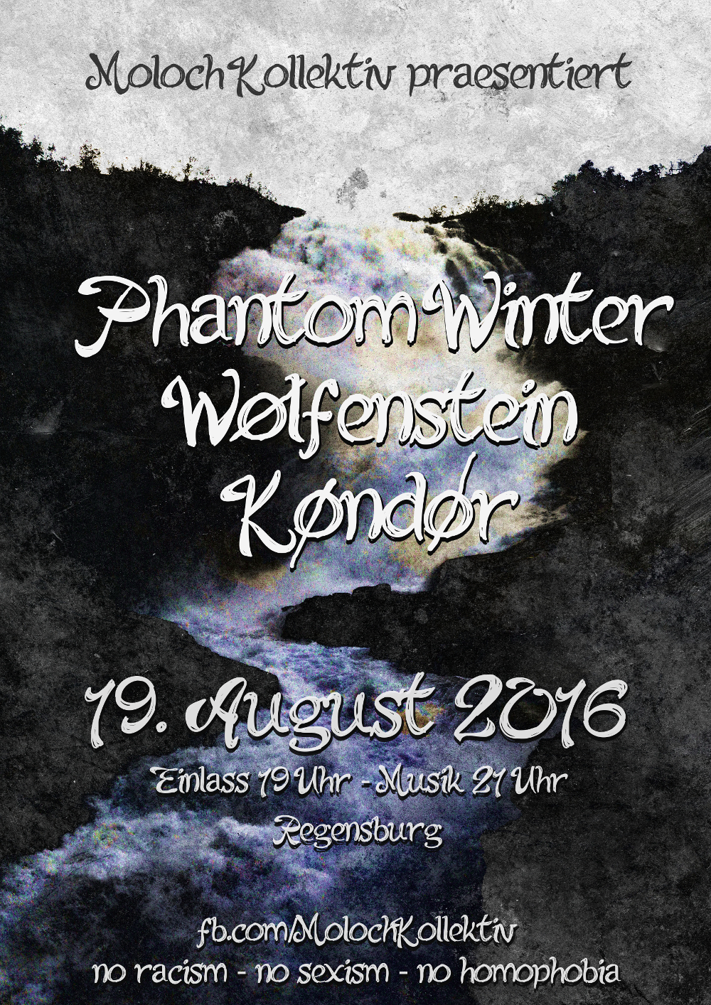 2016-08-19 Phantom Winter + WØLFENSTEIN + KØNDØR Flyer