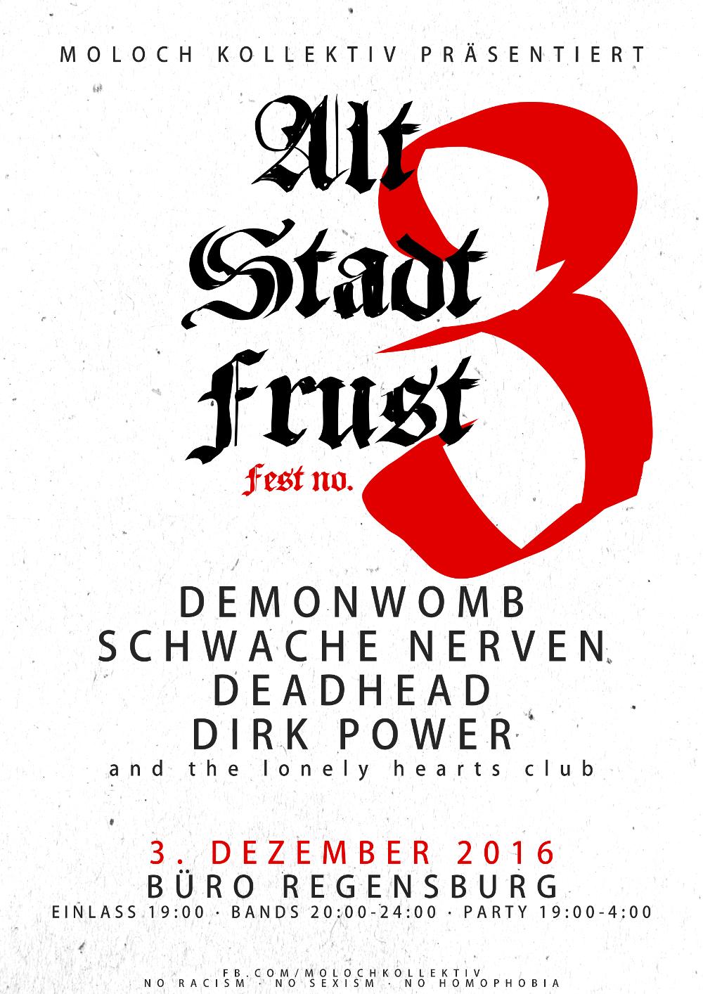 2016-12-03 Altstadtfrust Fest no. 3 - Moloch Kollektiv + Demonwomb + Schwache Nerven + Deadhead + Dirk Power